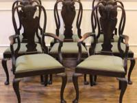 Antique Queen Anne dining chairs, imported from England