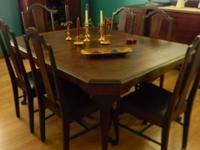 Beautiful antique dining room set, over 100 years old,