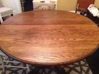 Antique dining space table, strong oak, exceptional