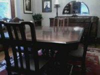 mahogany dinning set with six chairs made by Rockford