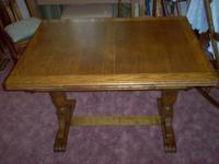 Antique Dining Table, circa 1900. Table and four