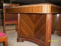 1930's waterfall deco antique table/chairs. been in