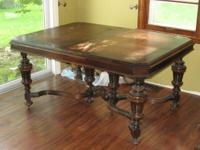 This is an antique dining room set that has actually