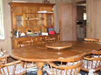 1400 or best offer  This dining table, hutch and