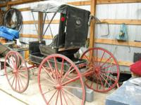 Antique Horse Drawn Doctor's Buggy Carriage, full with