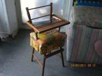 Antique wood Doll high chair excellent condition. $75