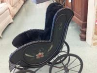 ANTIQUE DOLL STROLLER. DISPLAY WITH YOUR FAVORITE