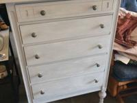 Antique dresser on wheels, painted in Annie Sloan Paris
