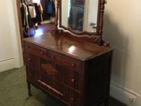 Nice real wood Dresser with Mirror for sale Non smoking