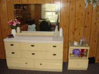 Antique dresser with mirror and one night stand $75..