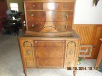 Have three antique dressers, one antique pie warmer,