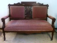 Description: Offered is a fantastic loveseat/settee in