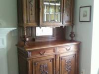 Very striking 2 piece Antique English Henri II Oak