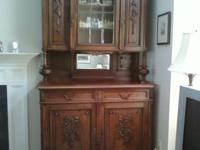 Antique English Henri II Oak Cabinet Cupboard (or would