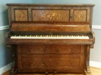 Beautiful Antique piano for sale. According to a Serial