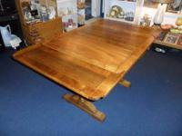 Beautiful solid wood antique draw leaf table in great
