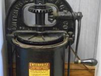 ENTERPRISE LARD PRESS  SIZE = 8QT   RARE TO SEE ONE
