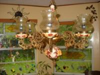 Antique European Lamp Chandelier been in family for