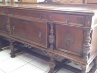 "Antique Excel MFG Rockford Co. Buffet. 38""H x 78""W x"