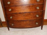 BEAUTIFUL ANTIQUE CHERRY WOOD BOW FRONTED CHEST OF