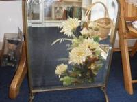 Beautiful hand painted mirror that can fit or sit just