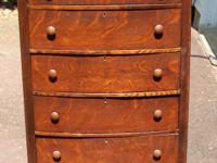 Type: Furniture Type: Antiques Antique Oak five drawer