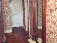 Wooden Antique Floor to Ceiling Mirror with base.