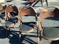 An Interesting Set Of Antique Folding Chairs - Give or