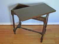 Antique Folding-top, Gate-leg Side Table, (Exton, PA