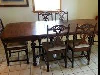 We have an antique formal dining room set for sale. It