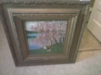 Beautiful large frame (painting included)  34x32  minor