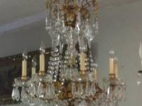 Antique French Bronze Chandelier $2400 Country Garden