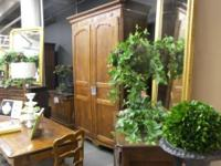 Gorgeous cherry wood armoire with interal buffet,