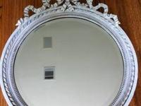 Antique French painted Mirror... Very pretty antique
