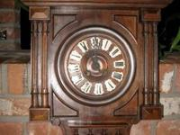 ANTIQUE FRENCH WALNUT HENRY II WALL CLOCK, circa 1880