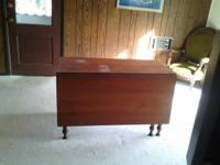 Corner cupboard SOLD, cherry drop leaf table $250,