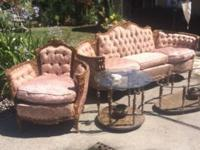 hey i have beautiful French couch and chair more to see