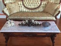 Antique Furniture in excellent condition. Rose carvings