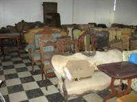 Here we have several pieces of antique furniture from a