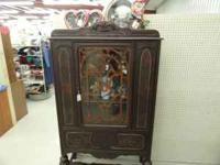 Nice antique gingerbread trimmed china hutch. It is