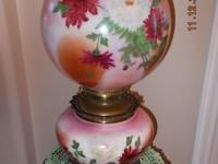 Late 1800's Beautiful Antique Gone With The Wind Oil