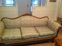 Beautiful Antique Gooseneck Sofa from approximately the