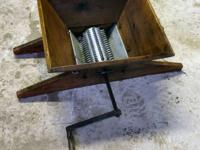 You are bidding on an Old Wooden Hand Crank Grape or