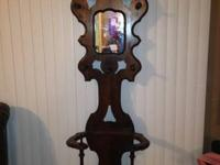 This is a beautiful Antique Hall Tree that is from the
