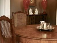 Beautiful Hand Carved Country French Dining Table ~