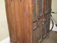 Very old hand crafted armoire or cabinet (one of a