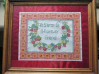 """A Sister Is A Forever Friend"" 15"" x 13"" Framed and"
