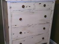 Antique hand painted and distressed. Perfect for a bed
