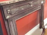 An exceptional excellent antique fireplace mantel right