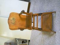 Antique High Chair. Can be made into a table and chair.